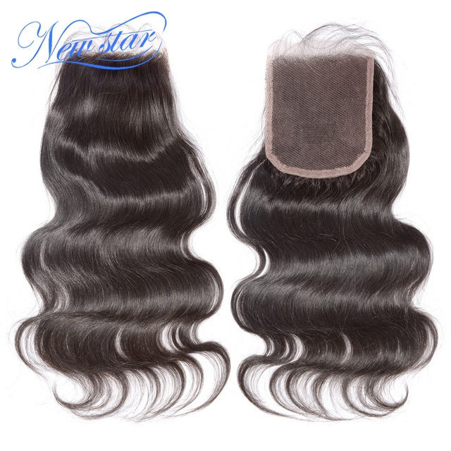 New Star Brazilian Virgin Hair Body Wave 3 Bundles With Lace Closure Raw Human Hair Cuticle Aligned 10A Hair Weaving And Closure 1
