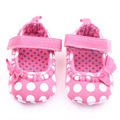 Cotton Comfort Baby Girl First Walk Shoes Soft  Sole Shoes Polka Dot Baby Frewalk Shoes Beautiful Bowknot Baby Casual Shoes