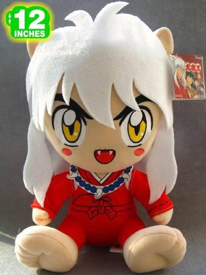 plush Inuyasha toy sitting Higurashi Kagome Movies TV gift toy birthday gift about 32cm