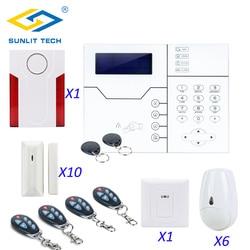 Draadloze TCP IP GSM Alarm Systeem Afstandsbediening Voor Thuis Inbreker Pet Immune PIR Motion Senor Deur Detector Strobe sirene
