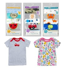 5 pcs/pack new 2017 Girls Boys short sleeve 100%Cotton T-shirt Baby & Kids tops tees cartoon o-neck toddler infant clothes