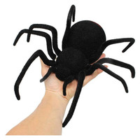 Abbyfrank Electronic Realistic Plush Horror RC Creepy Spider Black Mini Model High Simulation Fake Trick Toys Halloween Gifts