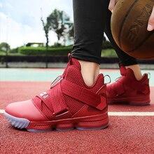 Модные Красные кроссовки для женщин; летние туфли на танкетке; большие размеры 43-45; туфли с высоким берцем на застежке-липучке для девочек; однотонные эспадрильи; Femme