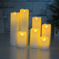 Hot Sale Paraffin Birthday Gifts Simulation Flame Home Decor Electronic Candle Lights Battery Operated Flashing LED Candles