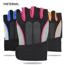 YHETERNAL Women Men Anti-skid Breathable Gym Gloves Body Building Training Sport Dumbbell Fitness Exercise Half finger Gloves