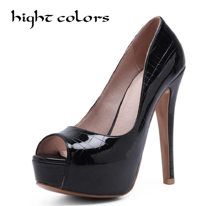 Women High Heel Pumps 2018 Fashion Platform Woman Dress Sexy Ladies Peep Toe Women Shoes Size 34-45 Black White Pink plus big size 34 43 sandals ladies platforms lady fashion dress shoes sexy high heel shoes women pumps a25