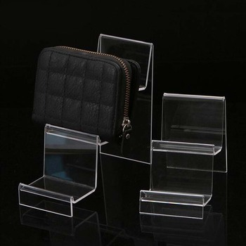 New Transparent Acrylic Display Shelf Mobile Wallet Glasses Rack Multilayer Cellphone Jewelry Display Keychain Stand Wholesale transparent acrylic pen rack jewelry accessories shelves small items show eyebrow pencil display shelf collection display