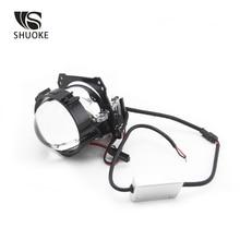 SHUOKE Mini Bi-LED Lens Projector Light LED Chips 2.5 inch 12V 6000K 50000 Hours Life Time 2 PCS Bi Led Free Shipping