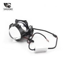 SHUOKE Mini Bi-LED Projector Lens Light LED Chips 12V 6000K 50000 Hours Life Time Free Shipping 2 PCS For Sale