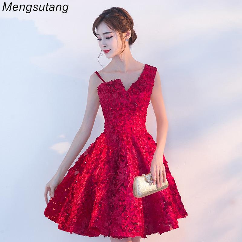 Weddings & Events Bright Robe De Soiree 2019 Short Reflective Dress Evening Dress Boat Neck Party Ball Gown Vestido De Festa Vestito Da Sera Prom Dresses