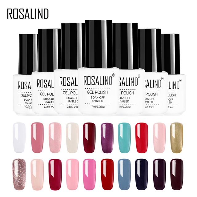 ROSALIND Gel 1S 7ML Classical Series Gel Nail Polish 60 Colors Set for Manicure Gel Lacquer For Nail Extension Tops Soak Off Art