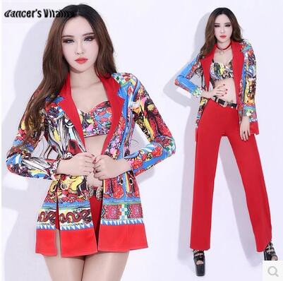 Bodysuit womenNew Spring Festival bar party ds performance clothing nightclub sexy dj singer self-cultivation suit bell-bottoms