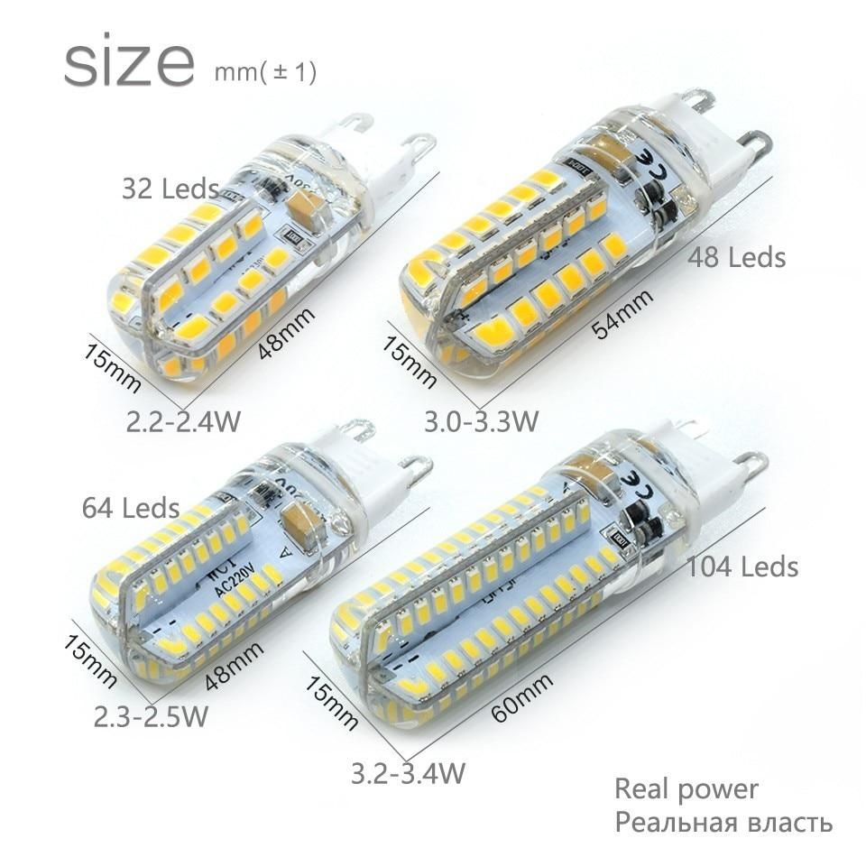 LKLTFX G9 Pendant Lights Lamp 220V Lampara SMD 2835 3014 104leds Lampada 360 Degree Beam Angle LED Light Spotlight Bulb Lamparas