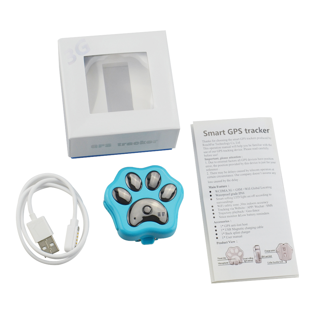 US $64 99 20% OFF|3G Network Wifi Anti Lost Dog Cat Pet Animal GPS Tracker  RF V40 with LED Lights Voice Monitoring Locator Anti theft Tracker-in GPS