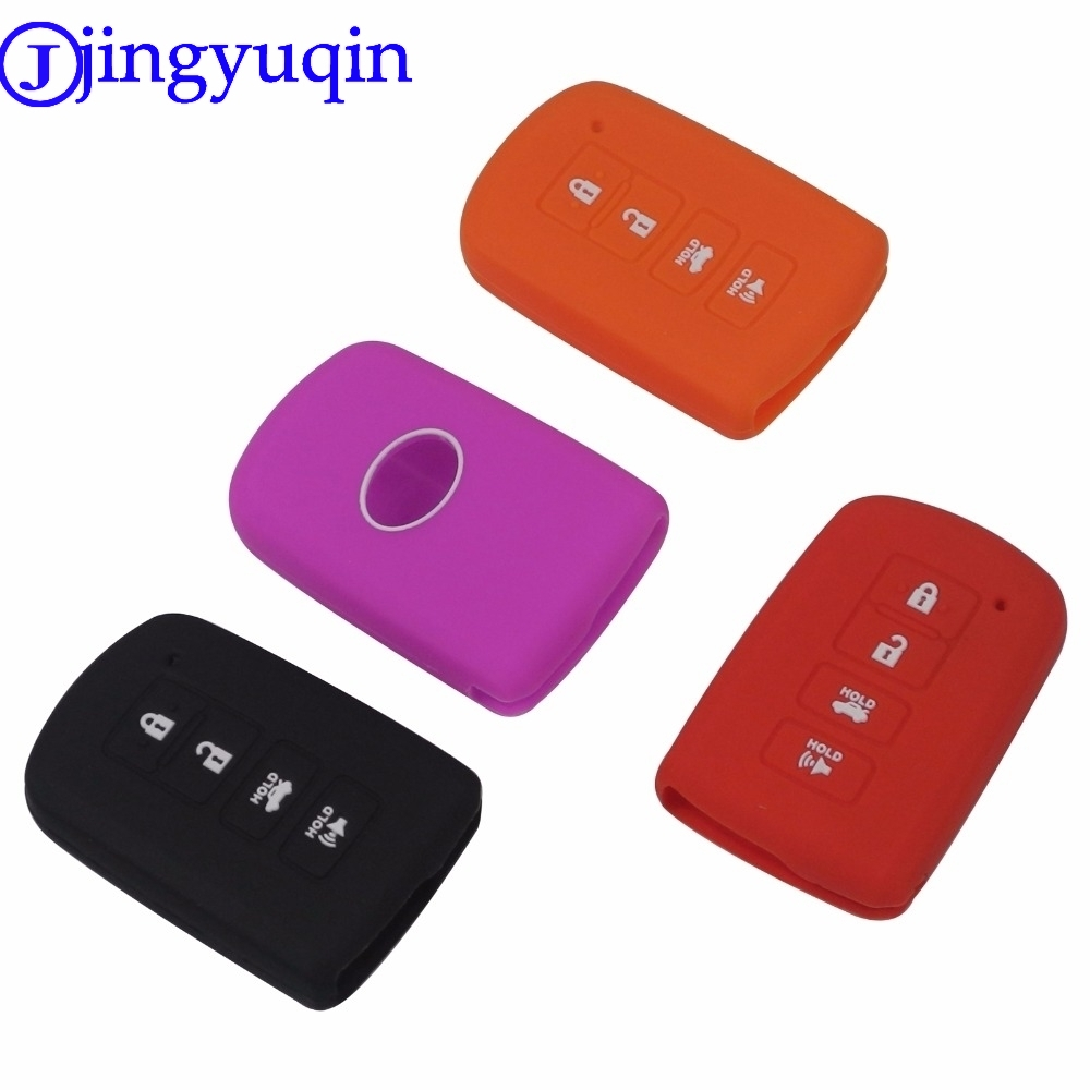 jingyuqin 10ps Remote 4 Buttons Car <font><b>Key</b></font> Silicone For <font><b>Toyota</b></font> Camry Avalon <font><b>Rav4</b></font> Highlander 2012 2013 <font><b>2014</b></font> 2015 <font><b>Key</b></font> Cover <font><b>Case</b></font> image