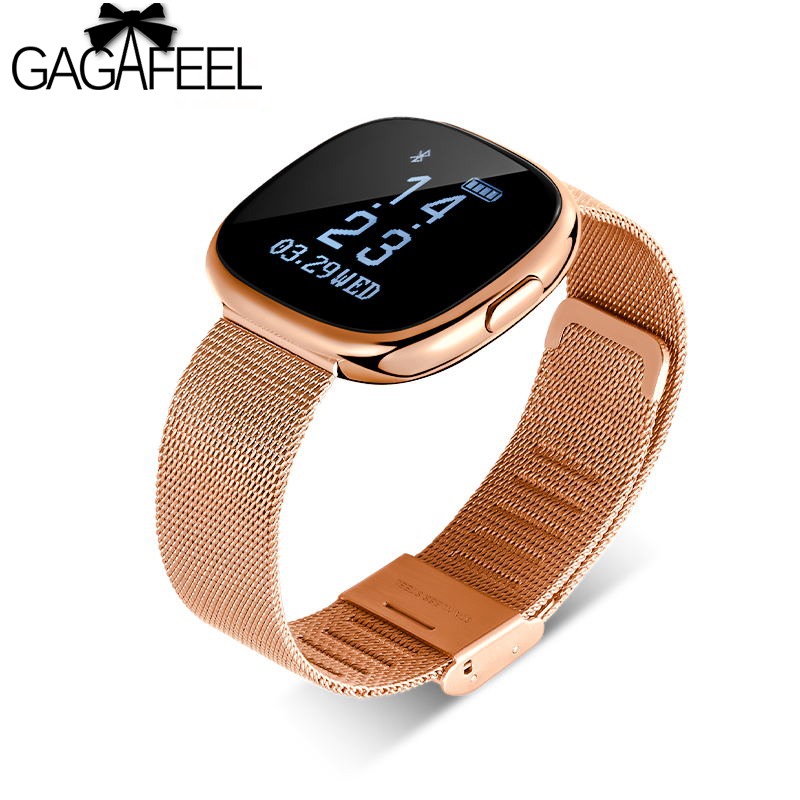 GAGAFEEL P2 Women Smart Watch Metal Strap Bluetooth Men Smart Bracelet Support Sim TF Card Android&IOS Watch Multi-languages bluetooth smart watch heart rate monitor sleep monitoring smart bracelet support sim tf sd card for ios android multi languages