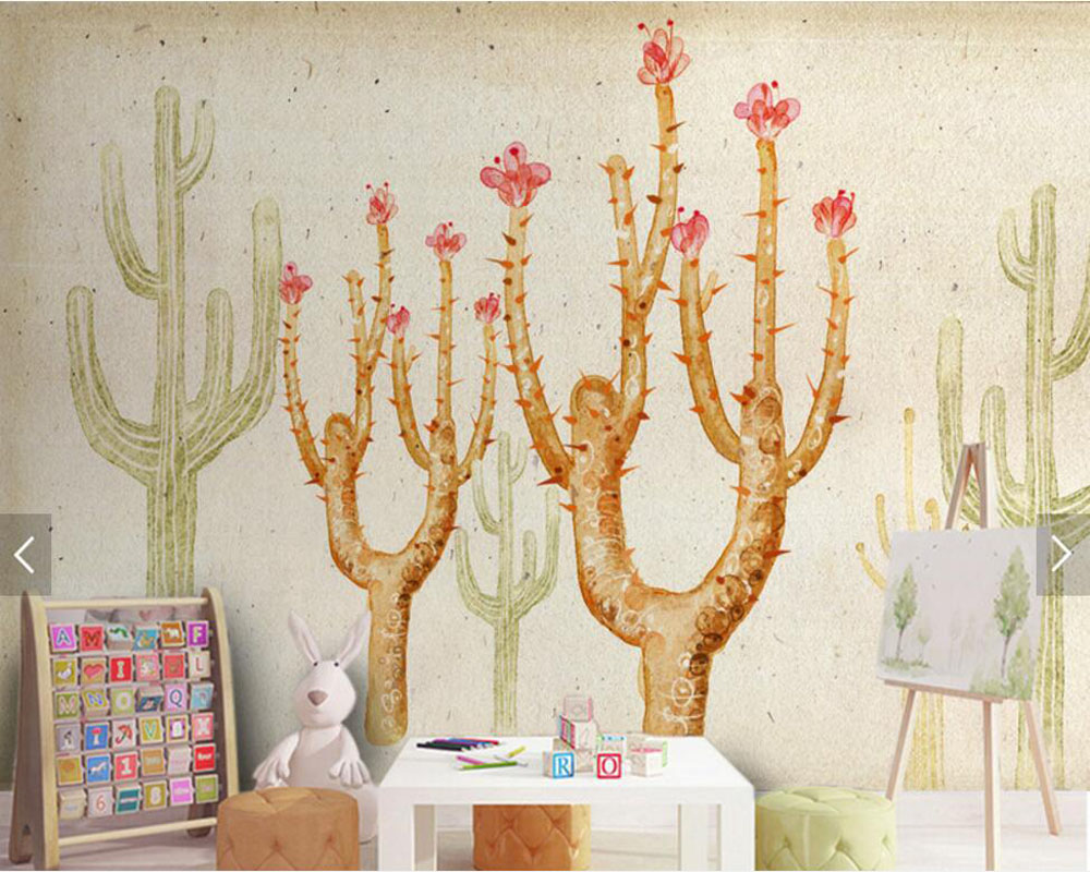 Abstract cactus modern wallpaper tv backdrop,living room kids bedroom sofa wall kitchen bar murals restaurant papel de parede european style murals ktv bar cafe personalized wallpaper abstract wallpaper living room sofa arts wallpaper mural