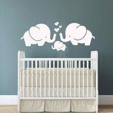 Cute elephant Wall Sticker Vinyl Wallpaper Decor For Nursery Kids Room Decoration Art Decal Murals