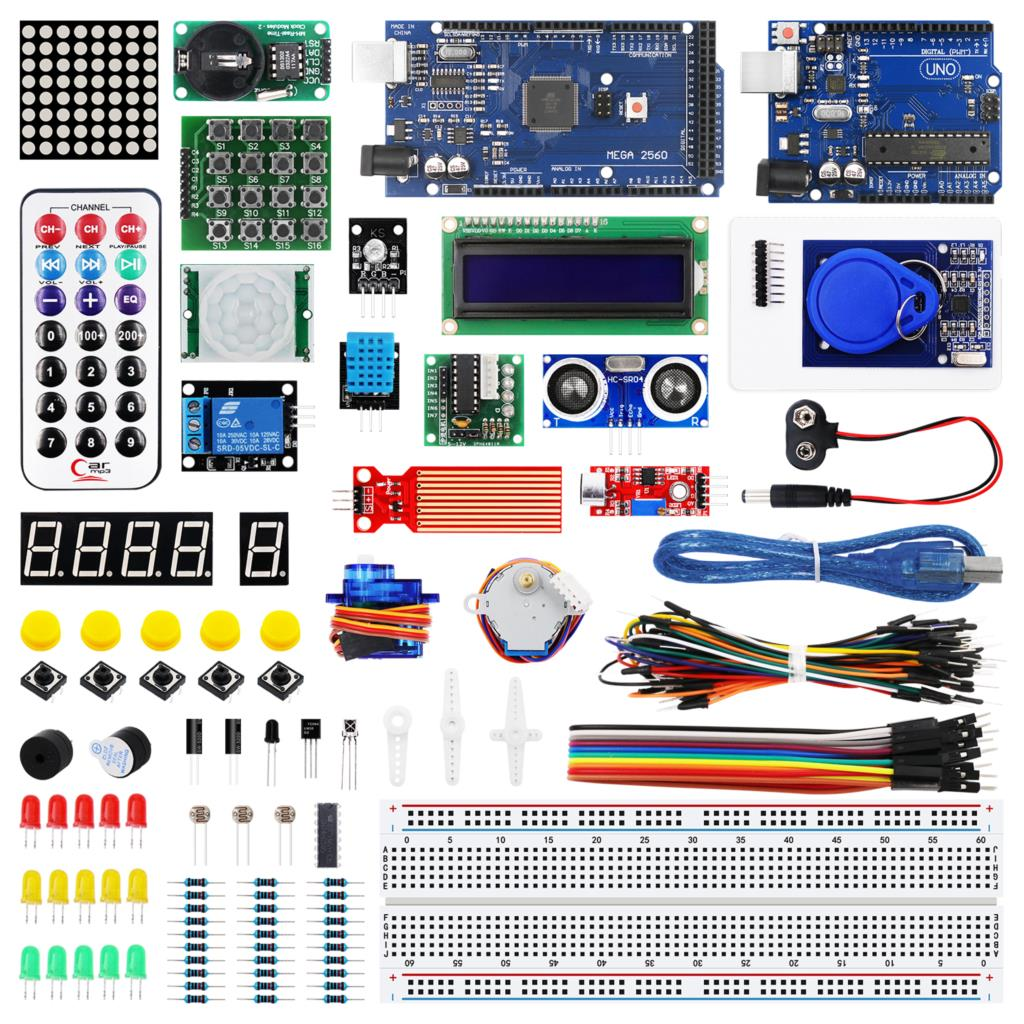 UNO R3 MEGA 2560 Starter Kit with HC SR04 SR501 for Arduino