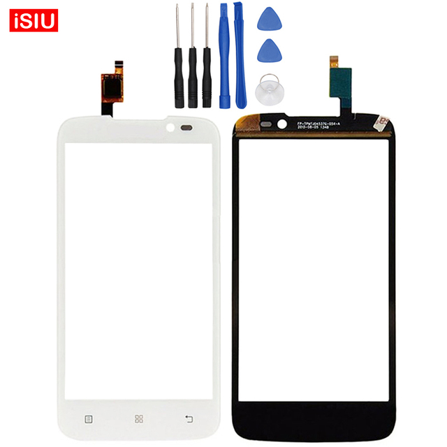 Black / White New 4.5 inch For Lenovo A526 LCD Touch Screen Lens Glass Outer Front Panel + Tools