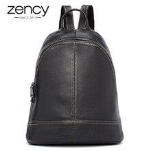 5 цветов zency бренд Лидер продаж Для женщин рюкзак элегантный дизайн путешествия школьная сумка для подростка Обувь для девочек 100% Пояса из натуральной кожи мягкая кожа