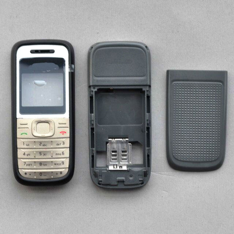 BINYEAE Full <font><b>Housing</b></font> For <font><b>Nokia</b></font> <font><b>1200</b></font> Case Cover Facing Front Frame With Keyboard Display Glass+Middle Frame+Back Cover <font><b>1200</b></font> Part image