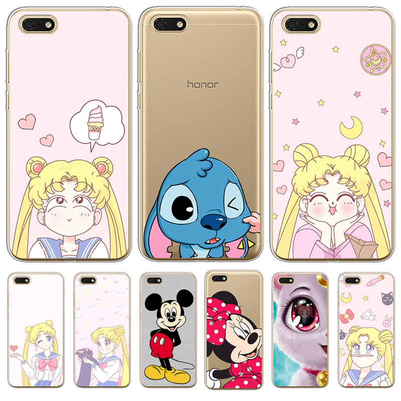 Radient Hameinuo Sailor Moon Girls Cell Phone Cover Case For Huawei Honor 3c 4x 4c 5c 5x 6 7 Y3 Y6 Y5 2 Ii Y560 Y7 2017 Half-wrapped Case Cellphones & Telecommunications