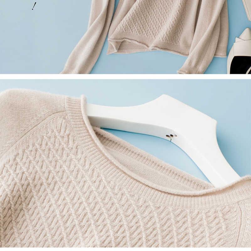 100% 순수 캐시미어 하이 엔드 여성용 스웨터와 풀오버 여성을위한 부드러운 따뜻한 긴 소매 점퍼 o-넥 니트 스웨터