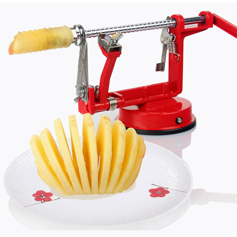 New 3 in 1 function sale 1pcs fruit vegetable tools Apple Slinky Machine Peeler Fruit Cutter Slicer Kitchenware