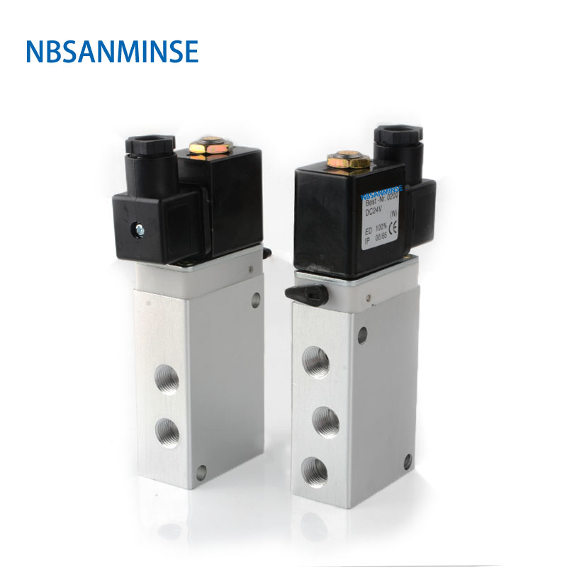802 / 263 Series Solenoid Valve Air Control DC24V AC220V High Quality Normal Temperature Sanmin