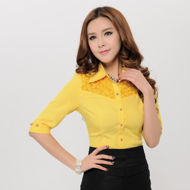 d75831d59ac New 2015 Spring Novelty Fashion Women Blouses   Shirts for Work .