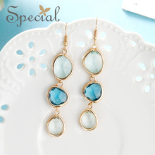 Special Brand Fashion 925 Sterling Silver Ear Pins Opal Stud Earrings Pearls Long Jewelry Gifts for Women S1809E