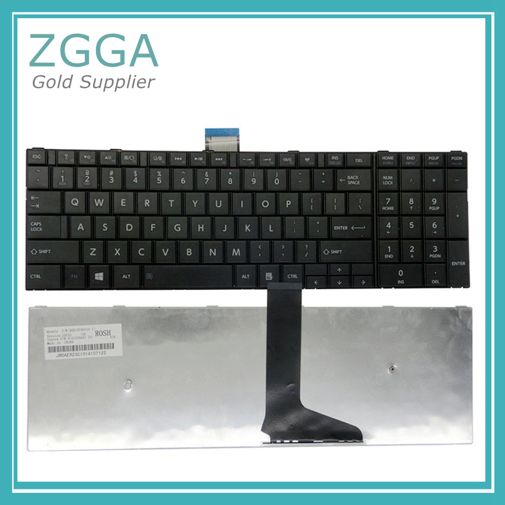 New Laptop RU Keyboard For <font><b>Toshiba</b></font> Satellite <font><b>L50</b></font> <font><b>L50</b></font>-<font><b>A</b></font> C50 C50D C50-<font><b>A</b></font> C55D L70 L75 C70 C75 Black Russian Keyboards US White image