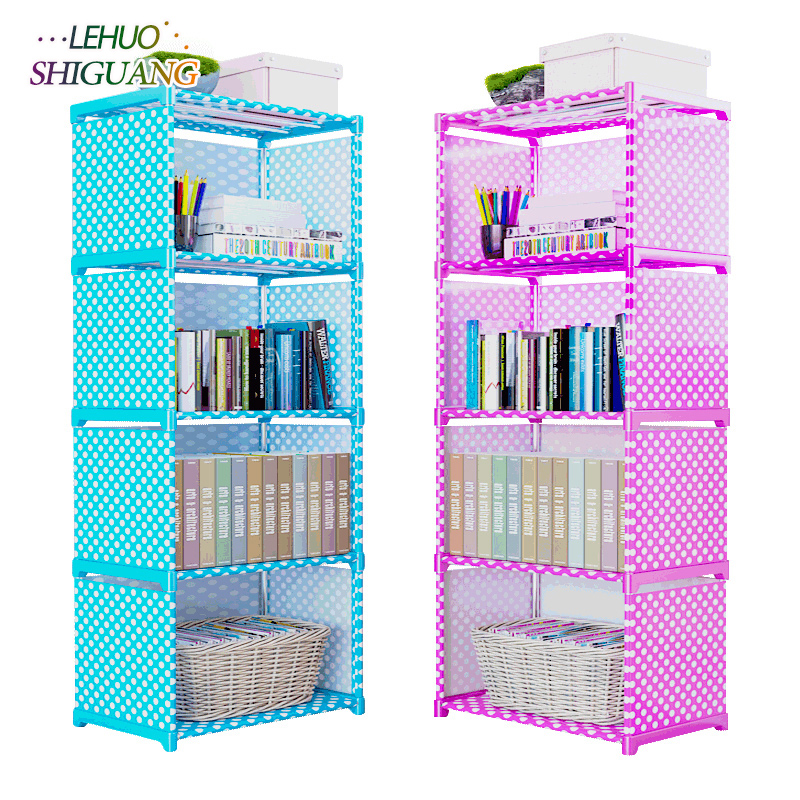 цена Multilayer Bookshelf non-woven bookcase Organizer storage Shelf simple wall rack Home decoracion Living Room Furniture