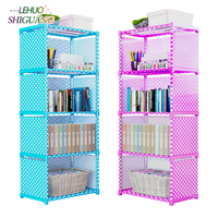 Multilayer Bookshelf non woven bookcase Organizer storage Shelf simple wall rack Home decoracion Living Room Furniture