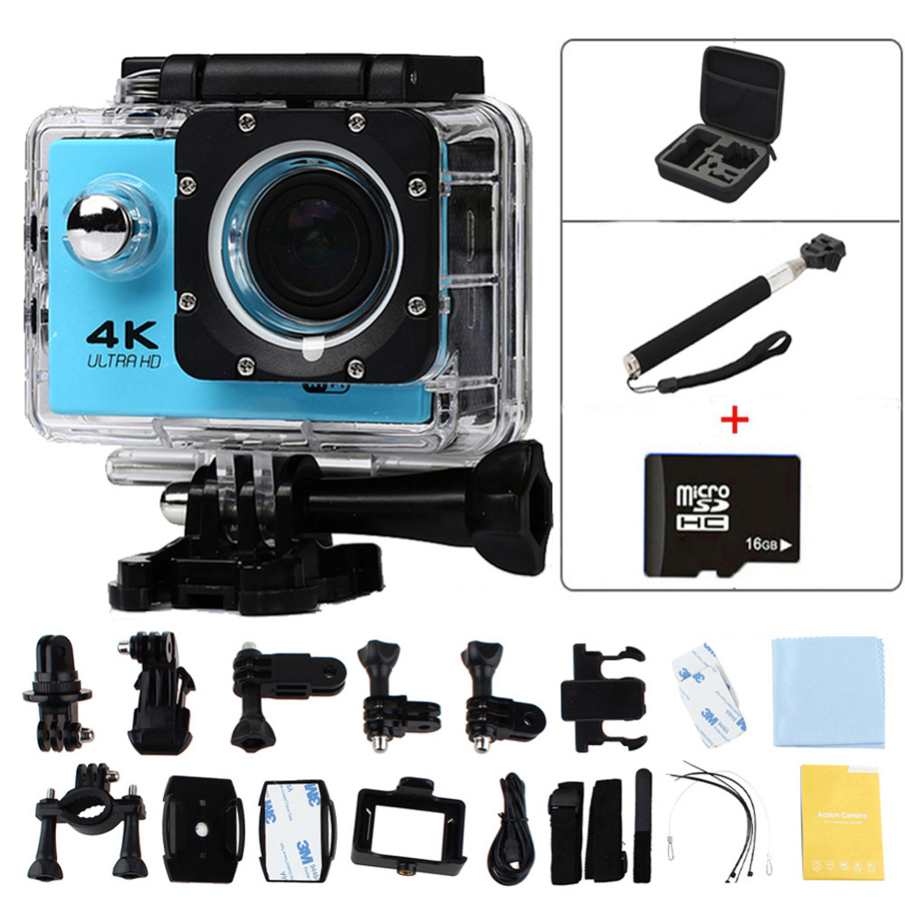 "2.0"" Ultra HD 4K Action Cam Wifi 1080p Video Camera Sport DV Camera Go 30M Waterproof Pro Helmet Camera Car DVR Camera Recorder"