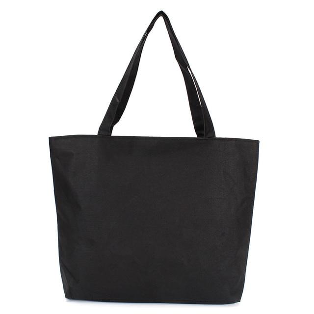ac5b1edbb3fa Wholesale Customizable Blank Women s Casual Handbag Quality Durable Canvas  White Black Color Shoulder Bag Plain Shopping