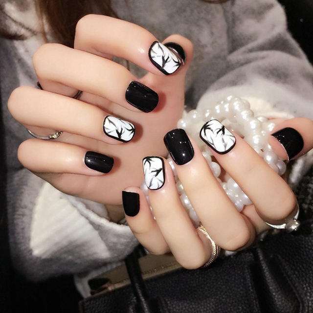 Aliexpresscom Acheter Noir Brillant Acrylique Ongles Dencre