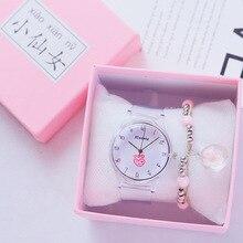 2019 Simple Chic Love Heart Watches Women Transparent Watch Ladies Sweet Women's Quartz Watch Female Wristwatch reloj mujer