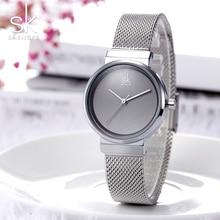 Shengke Fashion Watches Women Ladies Female Clock Sliver Bracelet Watch Quartz Elegant Wrist Girls Style