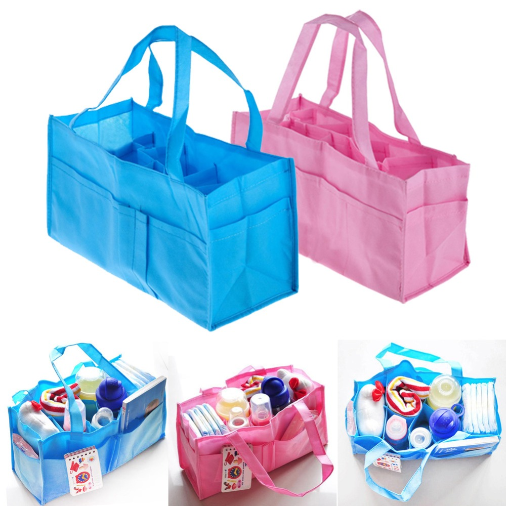 Portable Baby Diaper Nappy Changing Bags Inserts Handbag Organizer Pouch Storage Inner Diapers Bottle Storage Mummy Bag