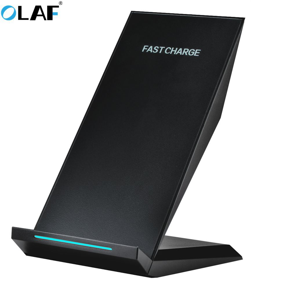OLAF Qi Wireless Charger 10W 2 Coils Wireless Charger for Samsung Galaxy S8 Plus S7 S6 Note 5 Fast Wireless Charging StandOLAF Qi Wireless Charger 10W 2 Coils Wireless Charger for Samsung Galaxy S8 Plus S7 S6 Note 5 Fast Wireless Charging Stand