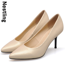 4 Colors New 2016 Spring Fashion High Quality  Women Pumps Sexy Thin heel Pointed Toe High Heels Women Party Shoes D45