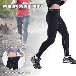 ملابس كرة السلة للرجال الجوارب طماق الرياضية السراويل تشغيل اللياقة البدنية مرونة ضغط السراويل Sweatpants كمال الاجسام رياضة السراويل