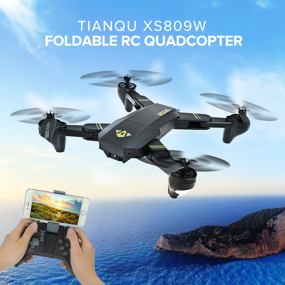 2019 New Style Rc Dron Visuo Xs809w Xs809hw Mini Foldable Selfie Drone With Wifi Fpv 0.3mp Or 2mp Camera Altitude Hold Quadcopter Vs Jjrc H37 Street Price