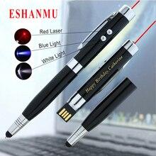 Хит, Eshanmu, Usb флеш-накопитель в форме ручки, карта памяти, 4 ГБ, 8 ГБ, 16 ГБ, 32 ГБ, Usb флеш-накопитель с индивидуальным логотипом, подарки для друзей компании