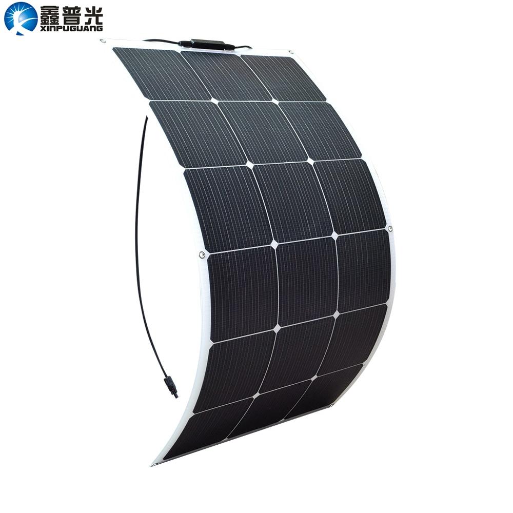 Xinpuguang Solar Panel Battery 90W 9V Flexible New Efficient Solar Cell for 6V 5V 3.7V System DIY RV Car Marine Boat Home Charge