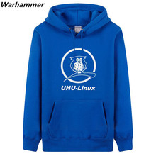 GEEK fan's must have pullover overcoat Coding Style UHU- Linux Youth's fleece hoodie &sweatshirts thick U.S.size valuable hoodie