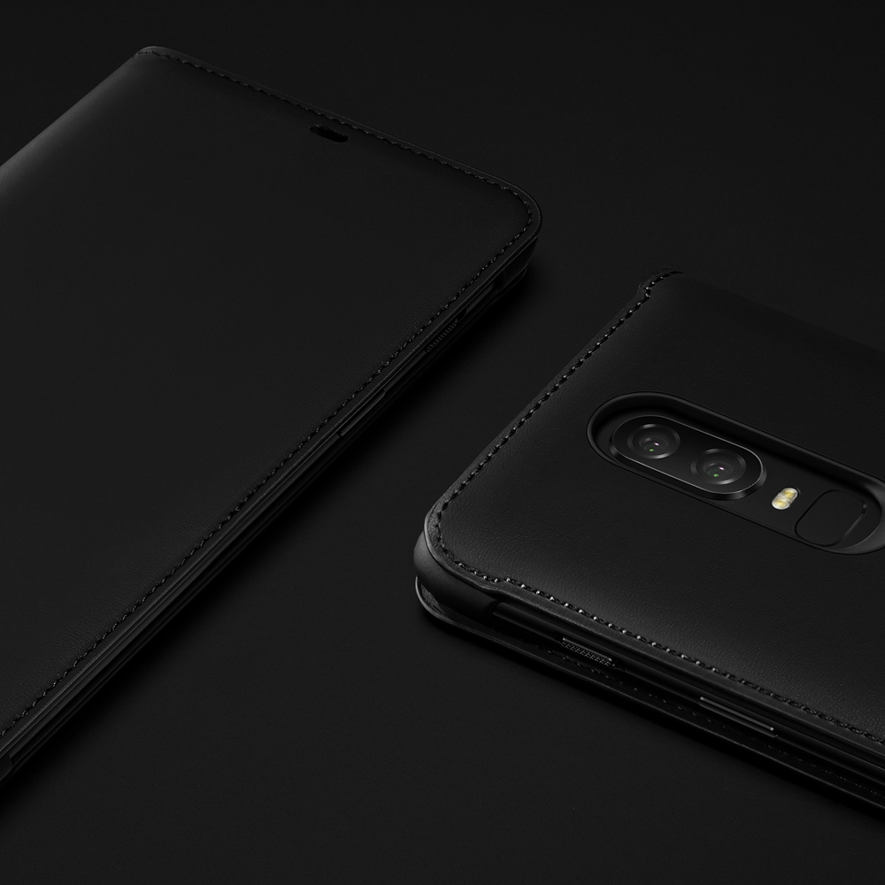 100% official flip cover for Oneplus 6 case with retail package 1+6 phone bag cases and covers original accessories