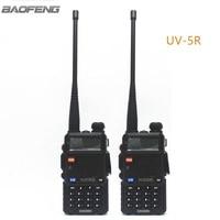 2pcs New Baofeng Black UV 5R Two Way Radio Dual Band 136 174MHz 400 520 MHz